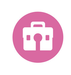 Hairdressing suitcase box vector