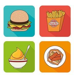 Hamburger digital design vector