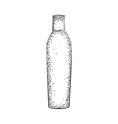 Hand drawn bottle or tube vector image
