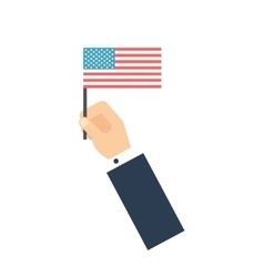 Hand holding American flag vote-concept Flat vector image