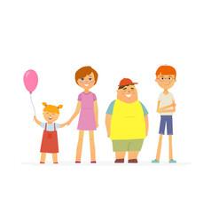 Happy children - cartoon people characters vector