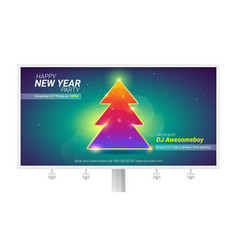 happy new year holidays billboard with christmas vector image