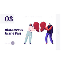 Heartbroken couple parting divorce website vector