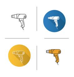 Heat gun icon vector