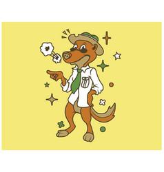 hipster otter cartoon t shirt design vector image