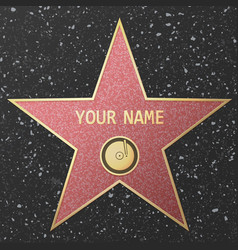 hollywood fame star vector image