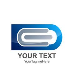 initial letter de logo design template element vector image