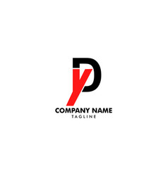 initial letter dy logo template design vector image