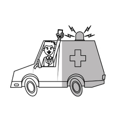 Isolated ambulance design vector