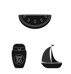 isolated object of equipment and swimming symbol vector image