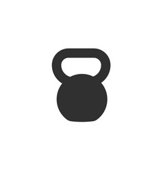 kettlebell icon isolated on white background vector image