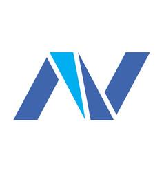 letter n logo design icon vector image