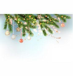 light christmas template with balls vector image