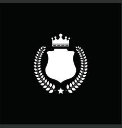 luxury crest decorative shield logo vector image