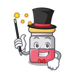 Magician nassal drop mascot cartoon vector