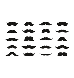 Moustache isolated on white background vector