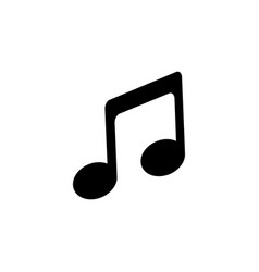 music icon in flat style musical note icon vector image