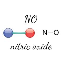 NO nitric oxide molecule vector