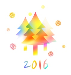NY2016 Color Snowflakes vector
