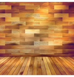 Old wooden interior room with a shelfs EPS 10 vector image