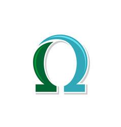 Omega symbol logo template design eps 10 vector