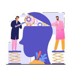 Open mind therapy concept vector