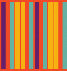 Orange pop art colored striped diagonal fabric vector
