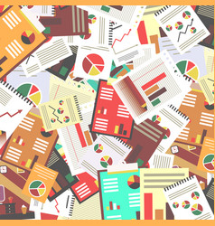 paperwork retro flat design background vector image