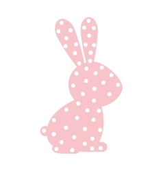 pattern with rabbit domestic animal color vector image