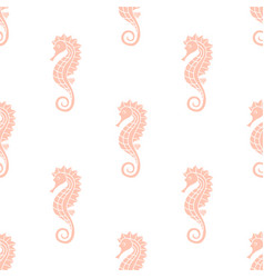 Pattern with seahorse vector