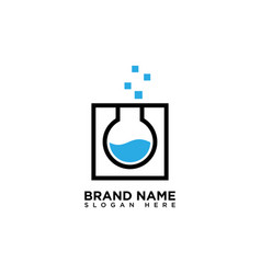 Pixel lab logo design template vector