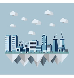 Pollution city flat concept vector