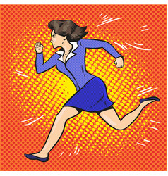 pop art of running vector image