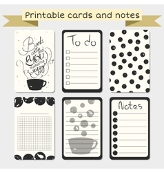 Printable journaling cards stylish to do list vector