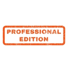 Professional Edition Rubber Stamp vector image
