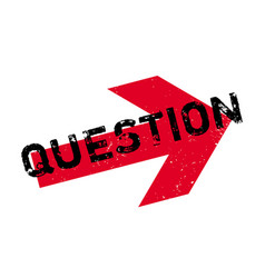 Question rubber stamp vector