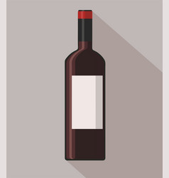 Red wine bottle on background vector