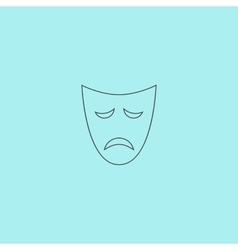 Sadness mask vector