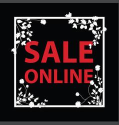 Sale online sign vector