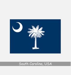 South carolina usa state flag sc usa vector