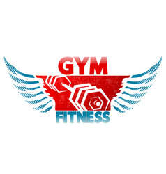 symbol of gym and fitness vector image