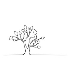 tree line vector image
