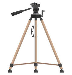 Tripod camera holder isolated on white vector
