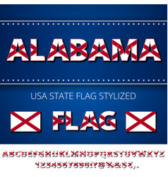 Usa state font vector