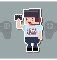 Videogame icon design vector