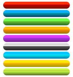Vivid colorful horizontal button banner vector