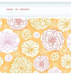 Warm day flowers horizontal decor torn seamless vector image