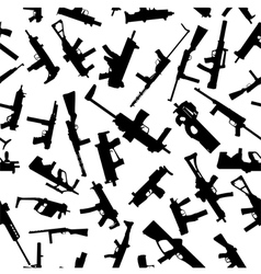 weapons silhouettes vector image