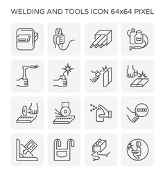 Welding tools icon vector