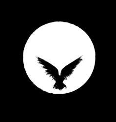 white moon raven vector image